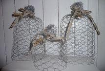 décoration avec grillage à poule