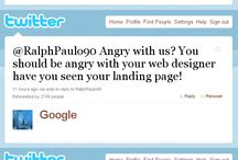 Angry Webmasters /  A series of parody interactions between webmasters and search engine giants focusing on topics around SEO, blogging and online marketing.