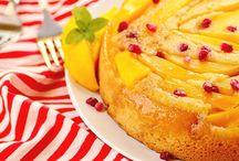 mango upside cake