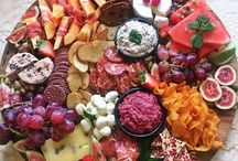 Cheese, Meat & Fruit plates