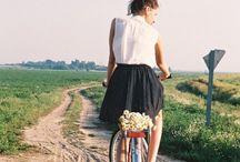 girl and a bike