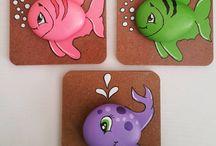 ψάρια από πέτρες