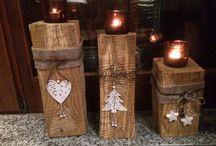 Holzbalken dekorieren