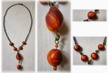 Polymer clay necklaces / Handmade polymer clay necklaces