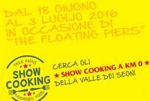 The @FloatingPiers e gli Showcooking della @ValleDeiSegni dal 18 giugno al 3 Luglio Sulzano (BS)