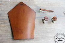 Personalized Cufflinks / Personalized Leather cufflinks