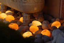 Nursery of light / Collection de galets en verre lumineux
