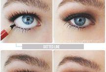 eyeliner onder wimpers
