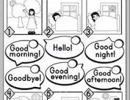English: Voca Grettings and farewell