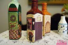 garrafas artesanais / decoraçao