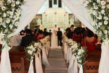 Kirke bryllup blomster