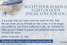 Mother Teresa Letters / An individual who exchanged a number of letters over the years with #BlessedMotherTeresa has given #EWTN permission to post some of her words of wisdom!