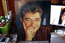 PORTRETE ÎN ULEI ȘI ÎN CREION / PORTRETE ÎN ULEI PE PÂNZĂ picturi originale tablouri portrete în creion sau ulei pe pânză picturi realiste hiperrealiste desene în creion cărbune semnate de pictorul român Călin Bogătean, membru al Uniunii Artistilor Plastici din Romania