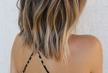 Hair / This short hair style has a beautiful ombré dye technique, to top the look off, this stylist has used the effect of loose, beachy, texturised waves for the perfect day to night look!