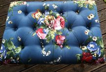Rosehip Upholstery / Recent works using traditional upholstery methods and hand sourced vintage fabrics