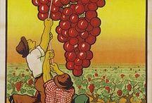 Wine posters./Wijnposters / There are many artists who use wine as a subject in their posters and paintings./Er zijn heel veel kunstenaars die wijn als onderwerp gebruiken in hun posters en schilderijen