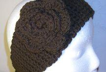 Crocheted headbands(DND products) / Wearing headbands.