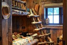 Small log house - bedroom