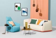 Sahara II / Sahara II is a plain, soft brushed cotton in a range of versatile and captivating modern shades including minty green, pastel peach and subtle pink hues. The new collection also includes colours which coordinate with the previously launched Atom print collection.