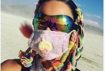 Tendance : La tresse tissu / Depuis le Burning Man elle fait fureur dans les cheveux !