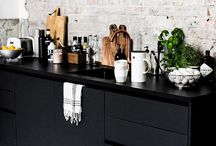Mustat keittiövalaisimet