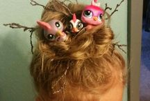 Crazy hair day ideas for Amber and Mommy