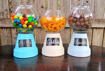 comunion manualidades/decoraciones mesas dulces