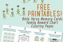Bible stories, scriptures, printables for children