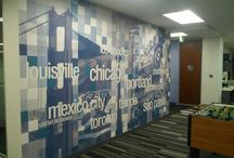 Wall Graphics / Wall signage attracts attention, transforms an office and boosts your branding.