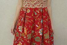 dress dada brokat