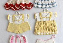 amigurimi bebek elbisesi
