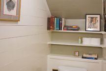 attic powder room