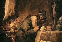 tentações de santo antonio / coleção de representações das tentações de santo antonio