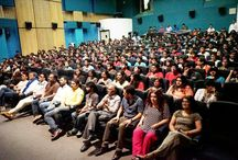 5th Veda session with Meet Bros. / The unheard whistles and cheers of excited students vibrated through the auditorium of Whistling Woods International (WWI), when the Music Director Duo. Meet Bros. stepped in for the third 5th Veda session of the academic year 16-17. The brother duo was full of energy and in sync with the crowd in the auditorium as they shared their journey, right through their student days to their journey to fame in the industry today.