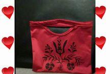 Handmade painted bags