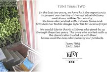 TUNI Turns TWO / We have turned Two and would like to thank evryone who stood by us and the clients who swore by our products!