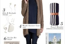 Travel Style / Clothes to pack for travel--in the air and on the road.
