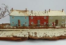 CRAFTS | Kirsty Elson houses / driftwood cottages, dioramas