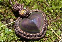 天然石マクラメ