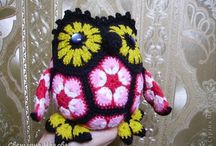 Африканские цветы / игрушки крючком из африканских цветов