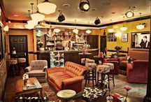 Noida - Entertainment Room / Furniture, lamps, coffee table, sofa back console and recliner ideas.