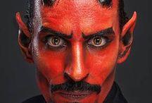 devil makeup men halloween
