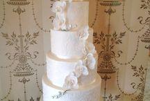 Wedding Cakes / Beautiful, elegant contemporary wedding cakes, delicious irresistible bespoke designs, sugar flowers, delicate piping by award-winning cake designer, Elle.