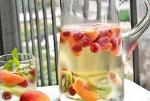 Fun drinks and healthy food