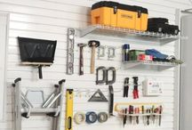 Workshop Storage Ideas / Storage and organization setup choices for above & around your workbench. Included are choices with and without workbenches