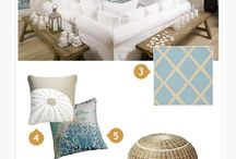 Coastal Style / As with so many decorating styles, the look we think of as coastal—airy fabrics, open space, seaside-inspired colors, and beachy accents—sprang from practicality. It originated in homes along the Atlantic coast, in which ample windows allowed ocean breezes to blow through, sturdy woods could withstand sandy feet and salty air, and blues and whites echoed the tones of the sand, sea, and sky.