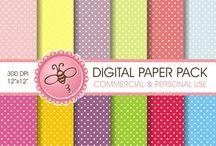 ETSY - digital paper