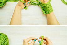 Fazer cachecóis com mão