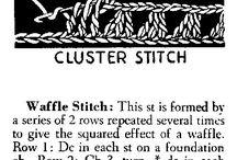 crochet stitch scheme