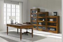 Despachos Alta Decoración / Una hermosa selección despachos en madera de Nogal Español. Fabricados en España. http://www.internamaste.com/mesas-despacho_47/0.asp